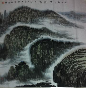 """年作品《宝塔山的怀念》获文化部""""炎黄子孙""""国"""